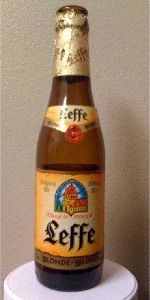 Good beer - Leffe Blonde is a Belgian Pale Ale style beer brewed by Abbaye de Leffe S.A. in Dinant, Belgium.