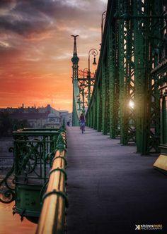 Cycling on a hot summer morning (Budapest/Hungary/Liberty bridge) Visit Budapest, Budapest Travel, Budapest Hungary, Budapest City, Building Photography, Travel Photography, Amazing Photography, Places Around The World, Around The Worlds