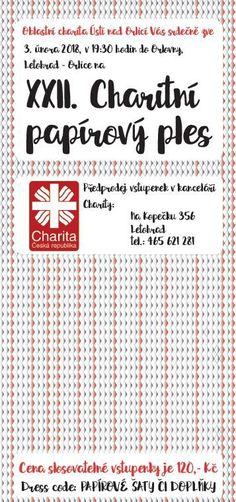 XXII. Charitní (papírový) ples - Oblastní charita Ústí nad Orlicí Word Search, Words, Horse