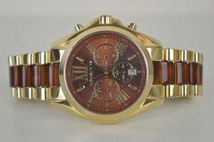 Michael Kors Damenuhr Uhr MK6269 Bradshaw Gold Braun UVP: 279