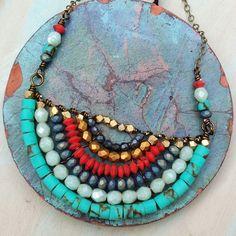 OOAK beaded Naguine necklace by GypsyLamb ❤