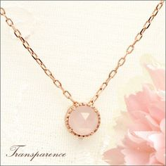 Rakuten: Pink gold [love luck calendar publication product] Cem Kelly K10 antique pink gold rose quartz necklace pendant transparency [the jewelry which I want to put on in summer]- Shopping Japanese products from Japan