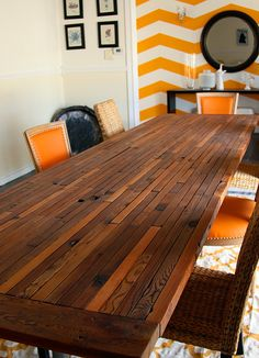 Extraordinary 12-foot Reclaimed Cedar Dining Table. $3,500.00, via Etsy.