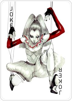 This would be a great tattoo inspiration.  Fashion Playing Cards by Connie Lim by Connie Lim, via Behance
