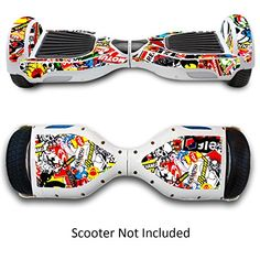 Self-Balancing Electric Scooters Skin - Skate Hover Board Sticker - Self Balance Mobility Longboard Decal - 2 Wheel Scooter Smart Protective Cover - Bluetooth Hover Drifting Boards Vinyl Case Stickers *** To view further for this item, visit the image link.