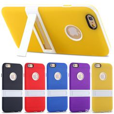 Mobile Phone Cases Rubber Tpu Back Cover For Apple Iphone 6plus 5.5inch For Iphone6 4.7inch Multi Color Pc Hard Bracket Kickstand Phone Case Make Your Own Cell Phone Case From Mayiandjay, $1.58