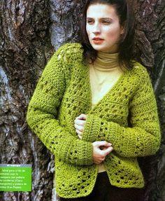 Patrones Crochet: Chaqueta Campera de Crochet Instrucciones