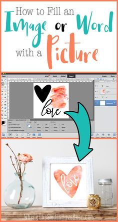 Etsy How to Fill an Image or Word with a Picture in Photoshop: A Clipping Mask! Where The Smiles Have Been Photoshop Tips, Photoshop Elements, Photoshop Tutorial, Photoshop Brushes, Inkscape Tutorials, Cricut Tutorials, Cricut Ideas, Ps Tutorials, Cricut Craft