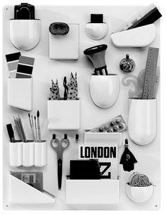 Vide Poches Mural 'Uten Silo' - Plastique Blanc - Dorothée Becker - Années 60-70