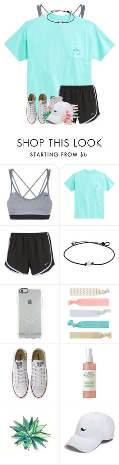 """Am I the only one who still has over a month of summer left?"" by jeh-shev ❤ liked on Polyvore featuring NIKE, Guy Harvey, Accessorize, Converse, Mario Badescu Skin Care, Vineyard Vines and Tory Burch"