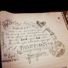 Bible verse drawing... I do this alotttt with sermon notes :)