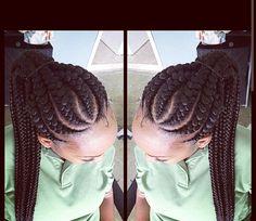 Ghana braid updo, protective style