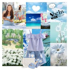 """Your Limit Is The Sky"" by kailey-muter ❤ liked on Polyvore featuring Chelsea Flower, BasicGrey, Under One Sky, happy, clouds and shein"