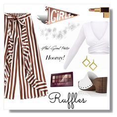 """""""The Ruffles"""" by freida-adams ❤ liked on Polyvore featuring Barneys New York, Maybelline and Tom Ford"""