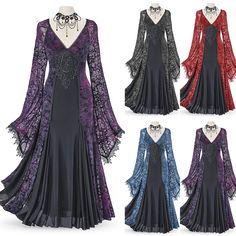 Medieval Dress, Medieval Costume, Renaissance Dresses, Steampunk Dress, Gothic Steampunk, Masquerade Dresses, Lace Maxi, Lace Dresses, Vintage Dresses