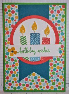 Christie's Creative Corner, Build A Birthday, Triple Banner Punch, Cherry on Top Designer Series Paper, Stampin' Up.