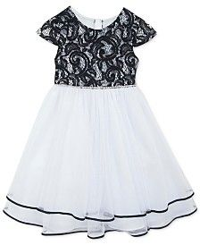 Rare Editions Girls' Lace-Top Party Dress