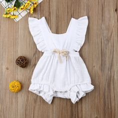 d9def8dc6cb 2019 Brand New Infants Toddlers Baby Girl Summer Sleeveless Romper Bodysuit  Sizes 6M-24M