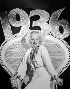 Alice Faye, 1936 Hollywood New Year's publicity photo.