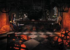 Alice Madness Returns art work, probably the coolest alice madness art ever!