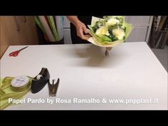 Wrapping two roses with transparent cellophane and tissue paper#wrapflowers - YouTube