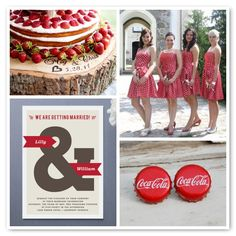 red and white wedding - coca cola theme wedding