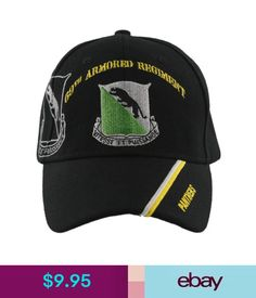 9.95 - New! Us Army 69Th Armored Regiment Panthers Ball Cap Hat Black   ebay  Fashion 96c927d571d