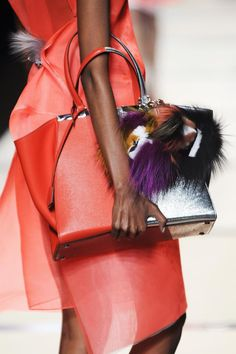 Feathers. Fendi, Milan, Spring 2014 Spring fashion trends 2014 #fashion #designer #runway