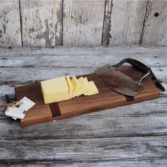 Cheese Board made of reclaimed walnut by PegandAwl on Etsy, $70.00