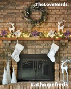 Learn how to add instant holiday cheer to your living room with tips to create a magical mantel using At Home finds on our blog!