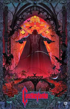 Official Castlevania prints, made by Kilian Eng (DW Design) and available online (limited to 200) at Cook & Becker - Next-Gen Art Gallery