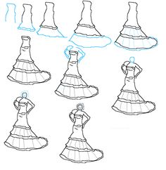 Image detail for -How to Draw Wedding Dresses step by step 500x513 How to Draw Wedding ...