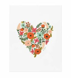 Rifle Paper Co. - Floral Heart - Illustrated Art Print
