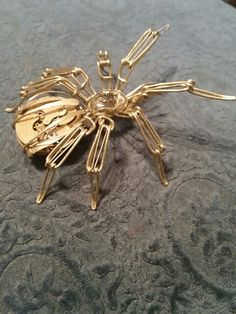 Wire wrap spider by Michael McBride