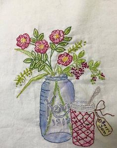 crabapple Hill Embroidery. Types Of Embroidery, Hand Embroidery Patterns, Embroidery Applique, Cross Stitch Embroidery, Quilt Patterns, Embroidery Designs, Stitch Patterns, Crabapple Hill, Primitive Embroidery