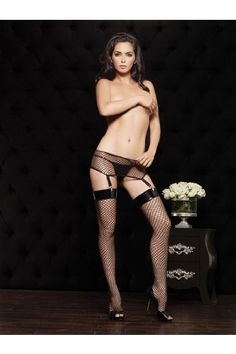 Sexy Adult Women Industrial Net Vinyl Top Thigh Highs By Leg Avenue, Black, One Size. From #Leg Avenue. Price: $7.68