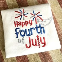 Happy 4th of July - 4 Sizes! | What's New | Machine Embroidery Designs | SWAKembroidery.com Beau Mitchell Boutique