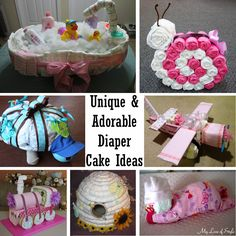 unique and adorable diaper cake ideas