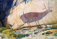 "Len Chmiel, Life Imitates Art, undated, oil on canvas, 35"" x 51""; National Museum of Wildlife Art, Jackson, WY"