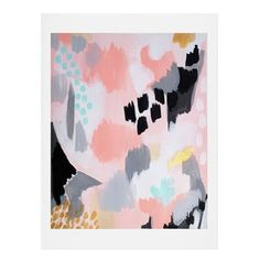 East Urban Home Serenity Abstract Painting Print