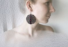 Limited edition designer earrings FREE shipping by DecoUno on Etsy