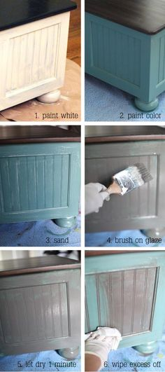 How to do a three tone glaze. Maybe do this on our coffee table soon?