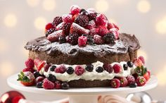 Chocolate Cake with summer berries