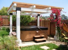 Our spa set under a gazebo! http://www.gordonandgrant.com/
