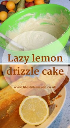 This quick lazy lemon drizzle cake is a real crowd pleaser and it's so easy to make. Here's my lazy recipe. Easy Strawberry Desserts, Cool Whip Desserts, Easy Summer Desserts, Summer Dessert Recipes, Dessert Cake Recipes, Easy No Bake Desserts, Desserts For A Crowd, Fancy Desserts, Lemon Desserts