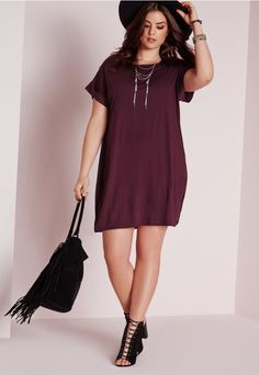 Missguided Plus Size Snake Print Plunge Dress Pink