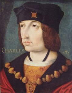 Charles VIII of France (1470 – 1498) was a monarch of the House of Valois who ruled as King of France from 1483 to his death in 1498. In December 1491, in an elaborate ceremony at the Château de Langeais, Charles and 14 year-old Anne of Brittany were married.
