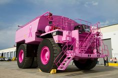 Look at this Big Pink Truck !