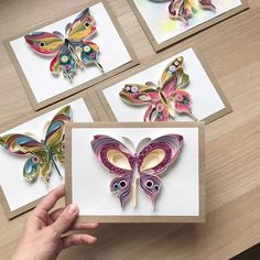 Quilling original card Butterfly with broken wings Unique Paper Art Handmade gift Unique design S Paper Quilling Patterns, Quilled Paper Art, Quilling Paper Craft, Diy Paper, Paper Crafts, Quilling Ideas, Neli Quilling, Quilling Butterfly, Quilling Flowers