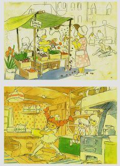 Hayao Miyazaki's Art For Proposed Pippi Longstocking Film